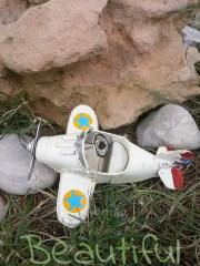 Μπομπονιέρες. Μπομπονιέρα Γάμου αεροπλάνο, μεταλλικό vintage.