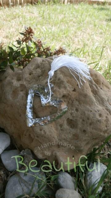 Μπομπονιέρα Γάμου,καρδιά σφυρήλατη μασίφ ασημί χειροποίητο.