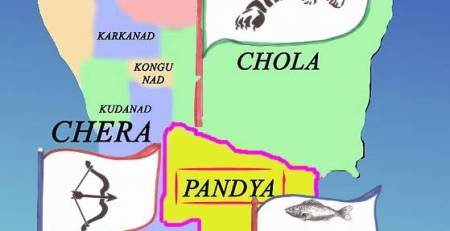 Map Chola Empire Chera Pandya kingdoms