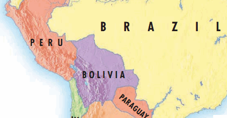 Map-south-america-political Andean Community
