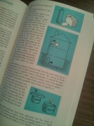 The illustrations are quirky, with that teal theme background throughout. (I'm chalking this up to it being the 60s.)