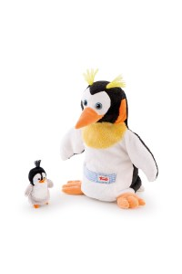 moulin roty penguin dad and baby puppet