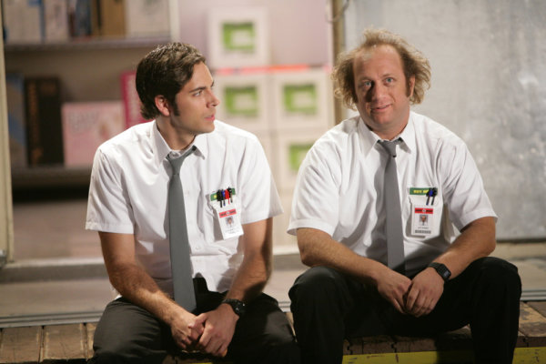 """Chuck vs. Tom Sawyer"" Episode 205 -- Pictured: (l-r) Zachary Levi as Chuck, Scott Krinsky as Jeff (NBC Photo: Adam Taylor)"