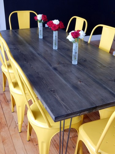diy kitchen table red kitchen table DIY Kitchen Table Red Autumn blog