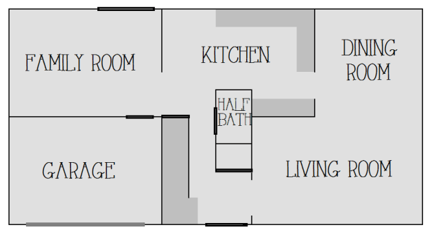 First Floor Layout  |  Mrs. Fancee