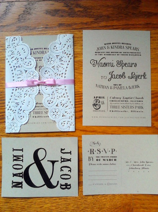 DIY Lace Wedding Invitations | Mrs. Fancee