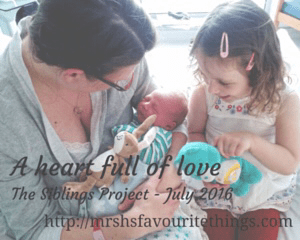 A heart full of love - The Siblings Project - July 2016
