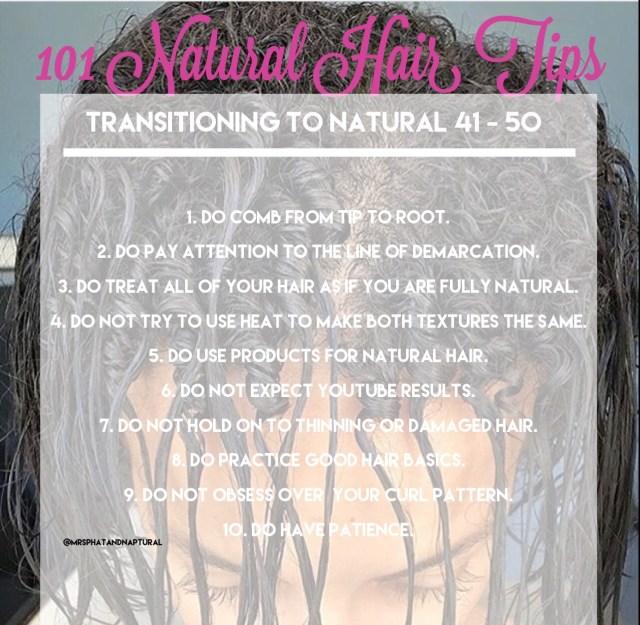 101 Natural Hair Tips: Transitioning To Natural