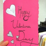 This student took her Valentine home and redid the whole thing on fancy paper.