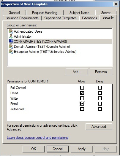 Sccm 2012 and pki marius sandbu in the certification authority console right click certificate templates click new and then click certificate template to issue yelopaper Choice Image