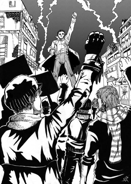 révolution concours de dessin janvier 2012 manga sans frontières