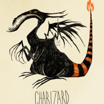 charizard dracofeu pokemon tim burton
