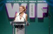 CENTURY CITY, CA - JUNE 16:  Host Maria Bello speaks onstage during the Women In Film 2015 Crystal + Lucy Awards Presented by Max Mara, BMW of North America, and Tiffany & Co. at the Hyatt Regency Century Plaza on June 16, 2015 in Century City, California.  (Photo by Charley Gallay/Getty Images for Women In Film)