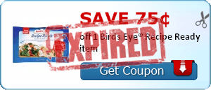 Save 75¢ off 1 Birds Eye® Recipe Ready item