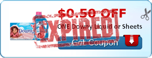 $0.50 off ONE Downy Liquid or Sheets