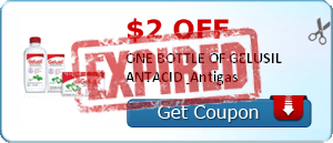 $2.00 off ONE BOTTLE OF GELUSIL ANTACID & Antigas