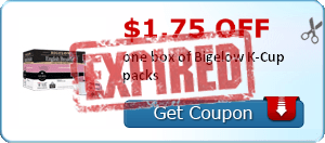 $1.75 off one box of Bigelow K-Cup packs