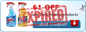 $1.00 off any TWO Windex products