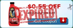 $0.55 off any Drano product