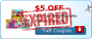 $5.00 off one PLAY-DOH Playsets: Double Desserts