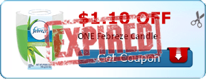 $1.10 off ONE Febreze Candle