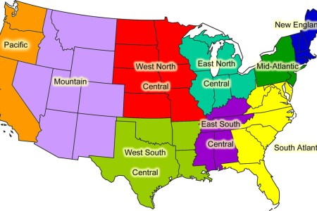 united states 8 regions map