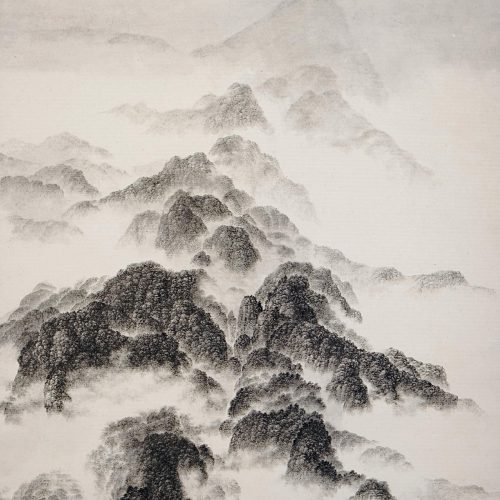 2003, Ink on Xuan Paper,mounted as hanging scroll, 36¼ x 28in; 92 x 71cm