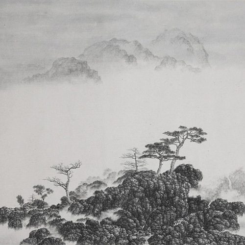 Ink on Xuan Paper, 30 x 36⅝in; 76 x 93 cm