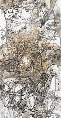 2013, ink on paper mounted as hanging scroll, 53.15 x 13.5 in