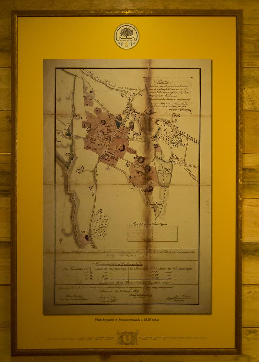 Plan kopalni w Swoszowicach z 1829 roku