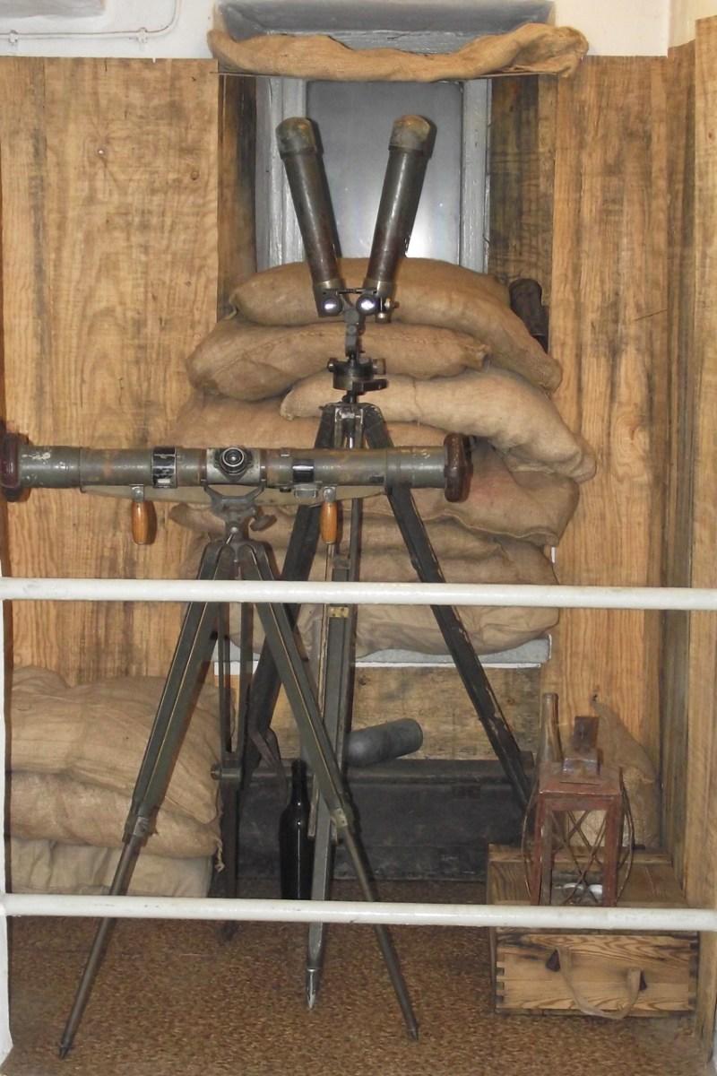 Austro-Wegierskie stanowisko obserwacyjne z dalmierzem artyleryjskim