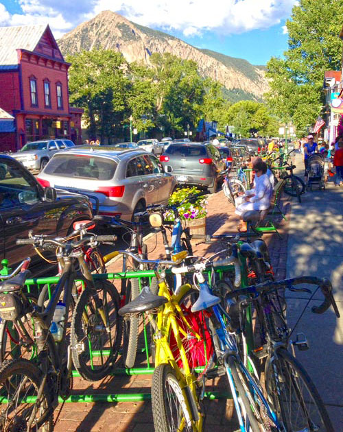 Crested Butte Mountain Biking Trails finish in downtown CB