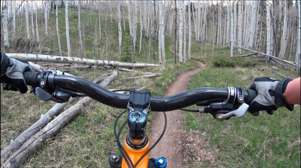 Strand Trail POV in Crested Butte