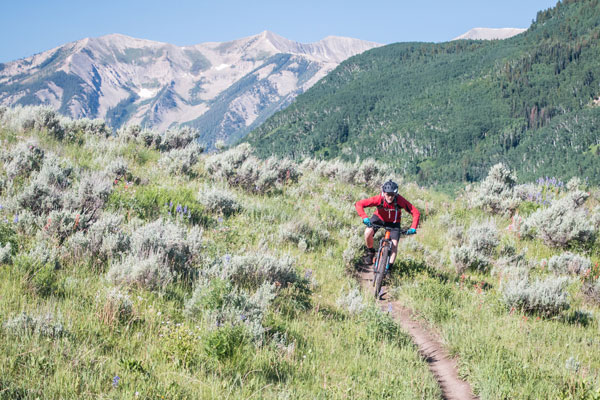 Biking on Strand near Crested Butte, Colorado