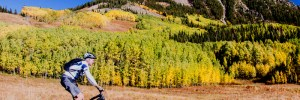 fall mountain biker in crested butte
