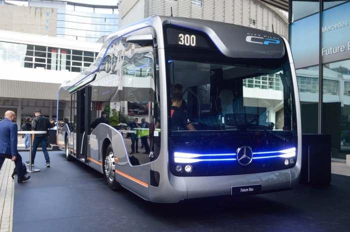Автобус будущего, который обойдется без водителя.