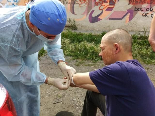 Благотворительная медицинская помощь бомжам и нуждающимся благотворительность, медицина, факты