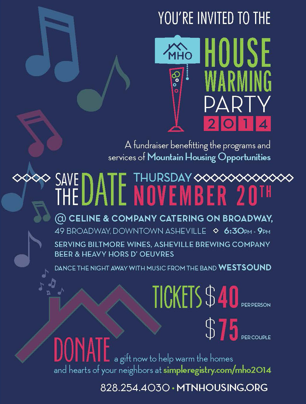 Save The Date For MHO's House Warming Party – November 20th