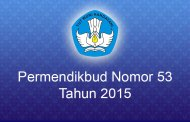 Permendikbud Nomor 53 Tahun 2015