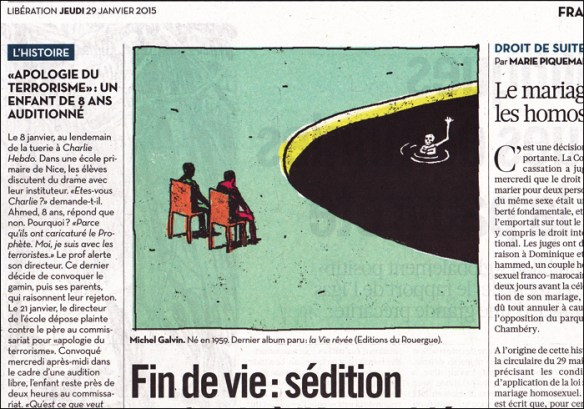 Debate on assisted suicide; pic by Michel Galvin