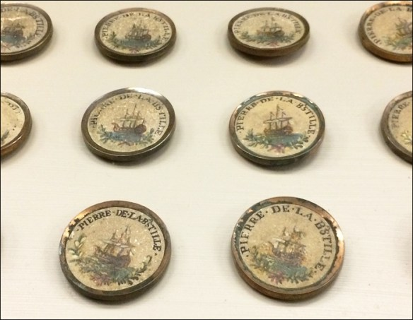 Buttons made with stone from the Bastille; Musée Carnavalet; pic: Cynthia Rose