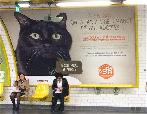 """I'm black, and so?"", Odéon métro; pic: Cynthia Rose"
