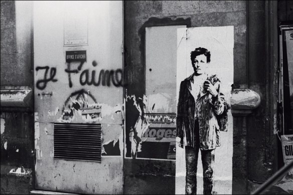 Rimbaud by Ernest-Pignon-Ernest, pic © Ernest-Pgnon-Ernest, all rights reserved