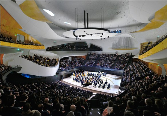 Interior of the grande salle; pic© Philharmonie de Paris/Bouygues France, all rights reserved