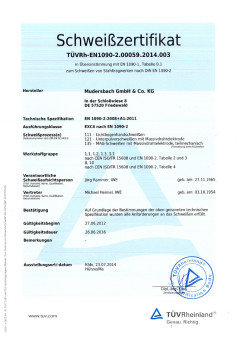 Certification as per DIN EN 1090-2 EXC 4