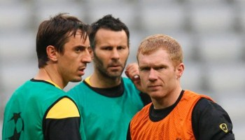 Paul Scholes, Ryan Giggs & Gary Neville