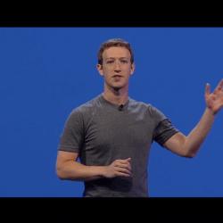 Mark Zuckerberg eröffnet die f8 Entwicklerkonferenz.