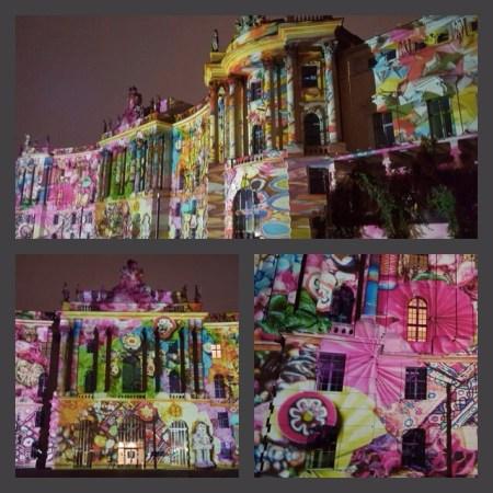 Visual Mapping - Die Humboldt-Universität in Berlin wird beim Festival of Lights 2016 schick in Szene gesetzt.