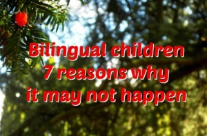 Bilingual children: 7 reasons why it may not happen