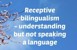 Receptive bilingualism – understanding but not speaking a language